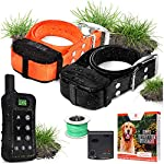 Pet Control HQ Wireless Pet Containment System w/ (1 or 2) Rechargeable Waterproof Shock Collar, Safe Perimeter Electric…