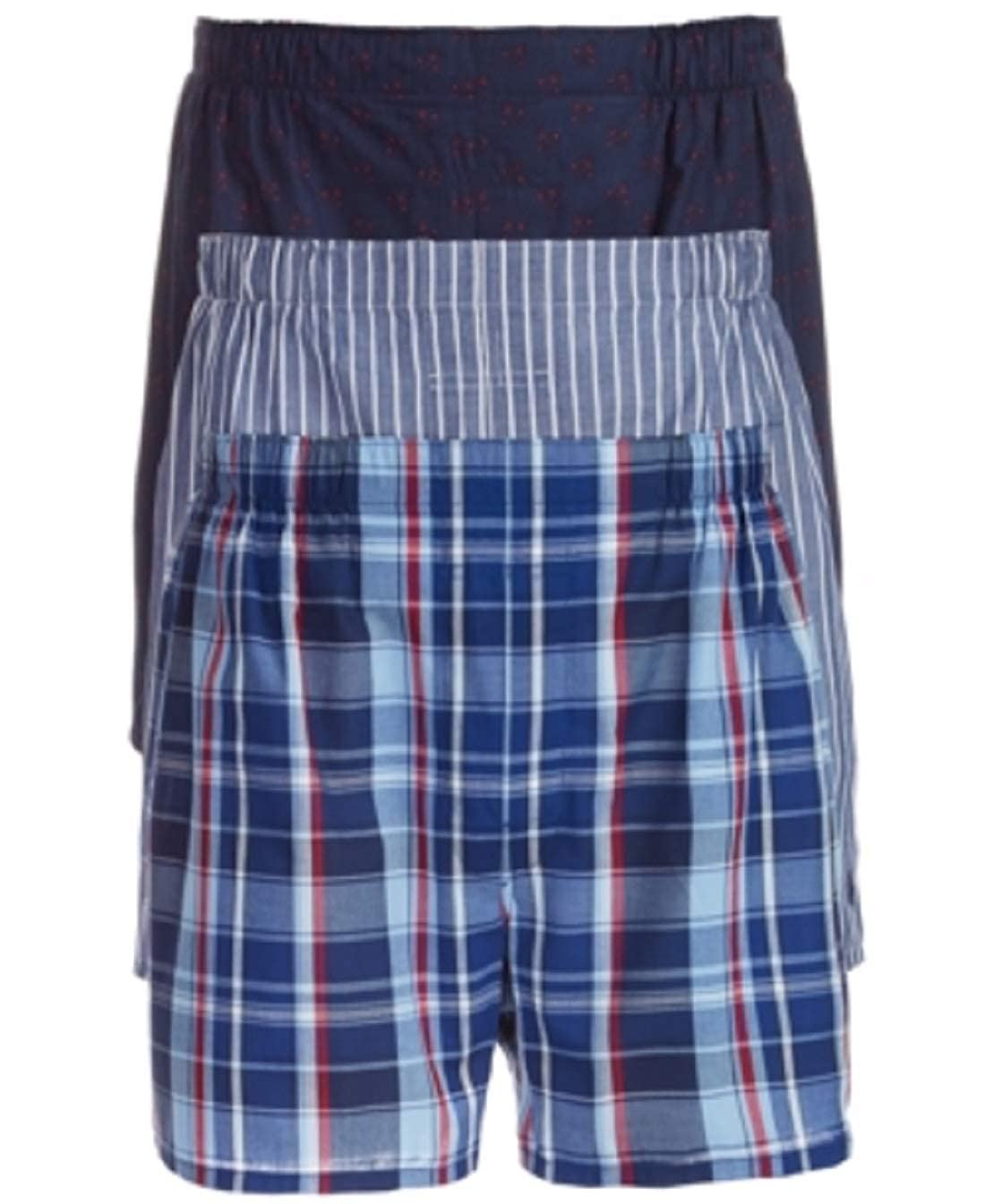 XL Nautical Assorted Polo Ralph Lauren Classic Fit Woven Boxers 3-Pack