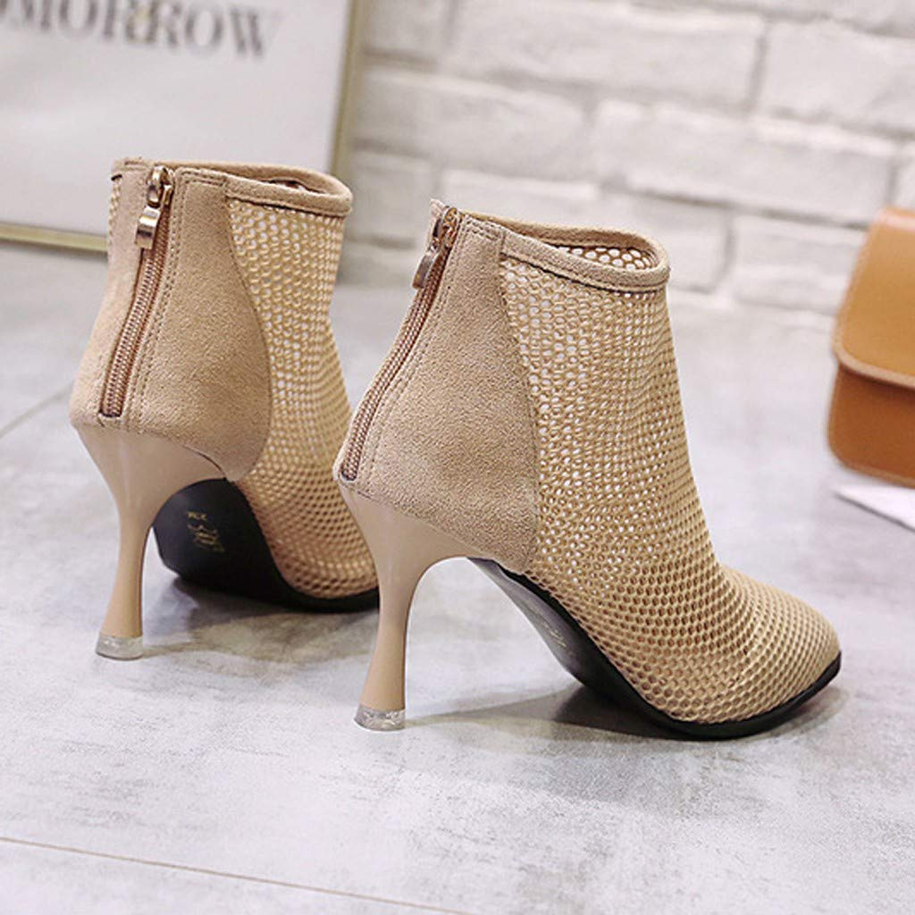 Amazon.com: Sharemen Women Sandals Summer Fashion Gladiator Zipper Roman Hollow Fashion Mesh High Heel Party Shoes: Clothing