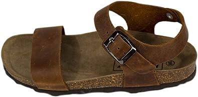 Sandalias de Verano para Mujer, Piel Color Negro. Sandalias con ...