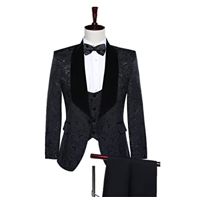 Maxudrs 2018 New Brand Shawl Lapel Groom Tuxedos Red Black Men Suits