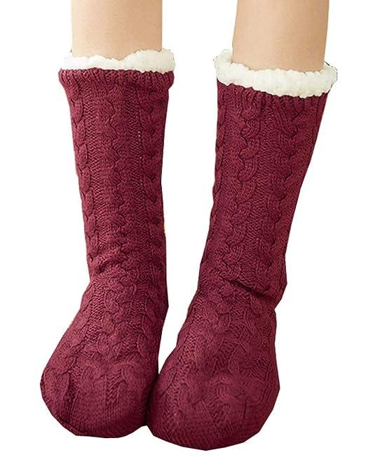 Black Temptation Más los calcetines de lana de terciopelo, calcetines gruesos de invierno gruesos antideslizantes