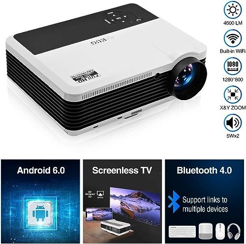 EUG HD Wireless Smart LCD LED Projector