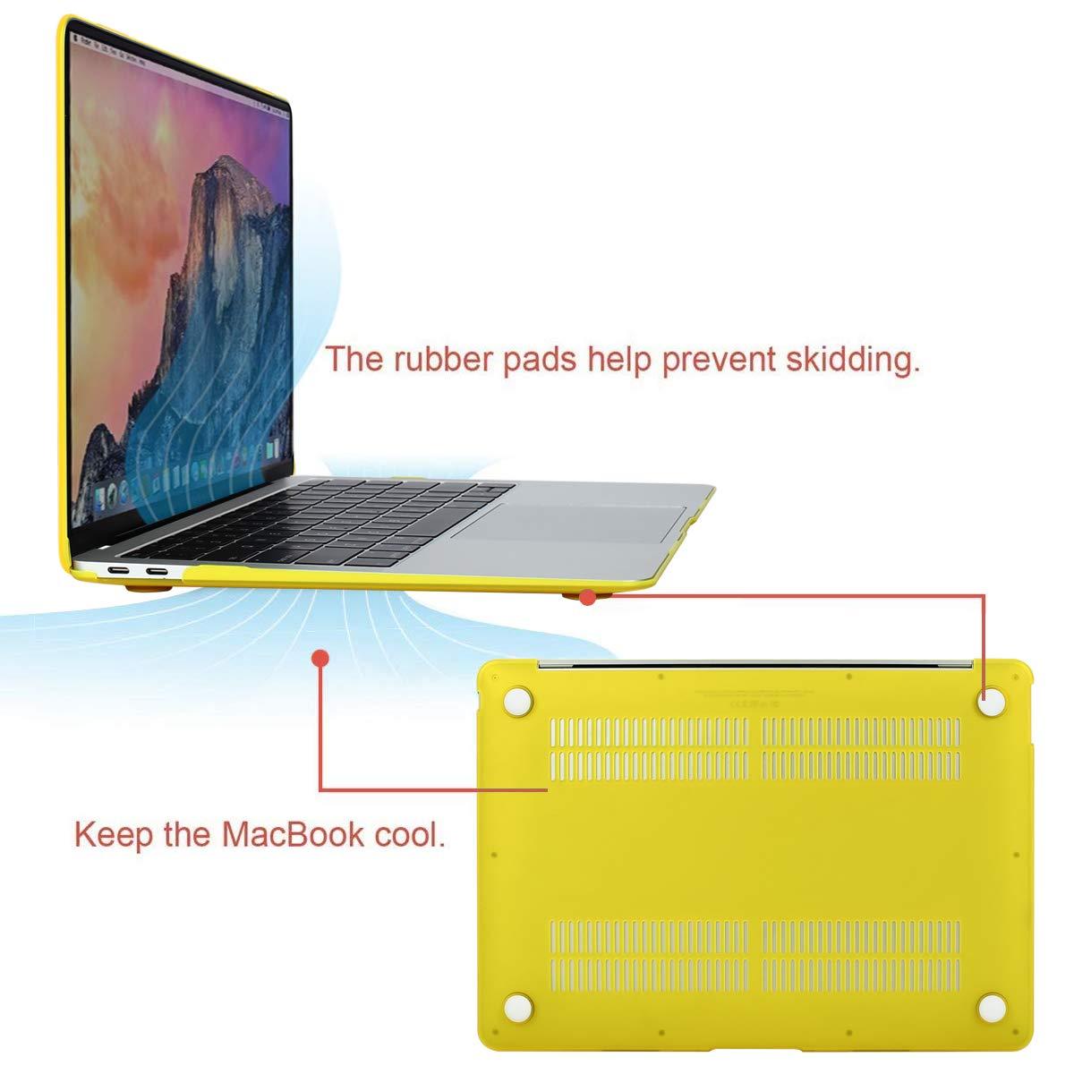 Ultra Delgado Carcasa R/ígida Protector de Patr/ón de Pl/ástico Cubierta Gris Espacial MOSISO Funda Dura Compatible 2019 2018 MacBook Air 13 Pulgadas A1932 con Pantalla Retina /& Touch ID