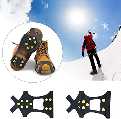 Boots Shoes Grips Spikes Crampons one size fits all snow Anti Slip Ice Grippers