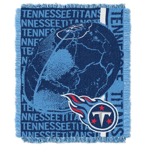 The Northwest Company Officially Licensed NFL Tennessee Titans Double Play Jacquard Throw Blanket, 48