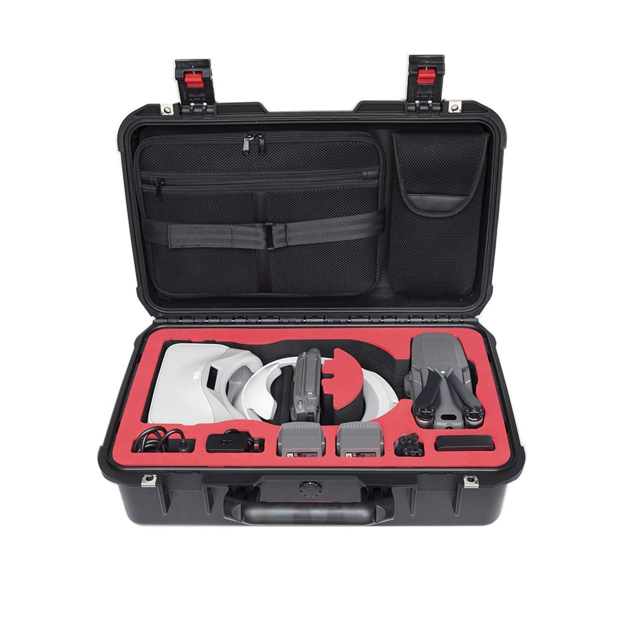 Jasnyfall PGYTECH Mavic 2 Pro/Zoom/Goggles Case Wasserdichte Aufbewahrungsbox für DJI Mavic 2 Schwarz