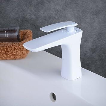 Badezimmer Armaturen beelee weiss lack einhebelmischer wasserhahn bad armaturen