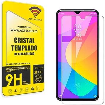 actecom Protector Pantalla para Xiaomi MI A3 Cristal Vidrio Templado para Xiaomi Mi A3 Cristal Camara Mi A3 (Cristal): Amazon.es: Electrónica