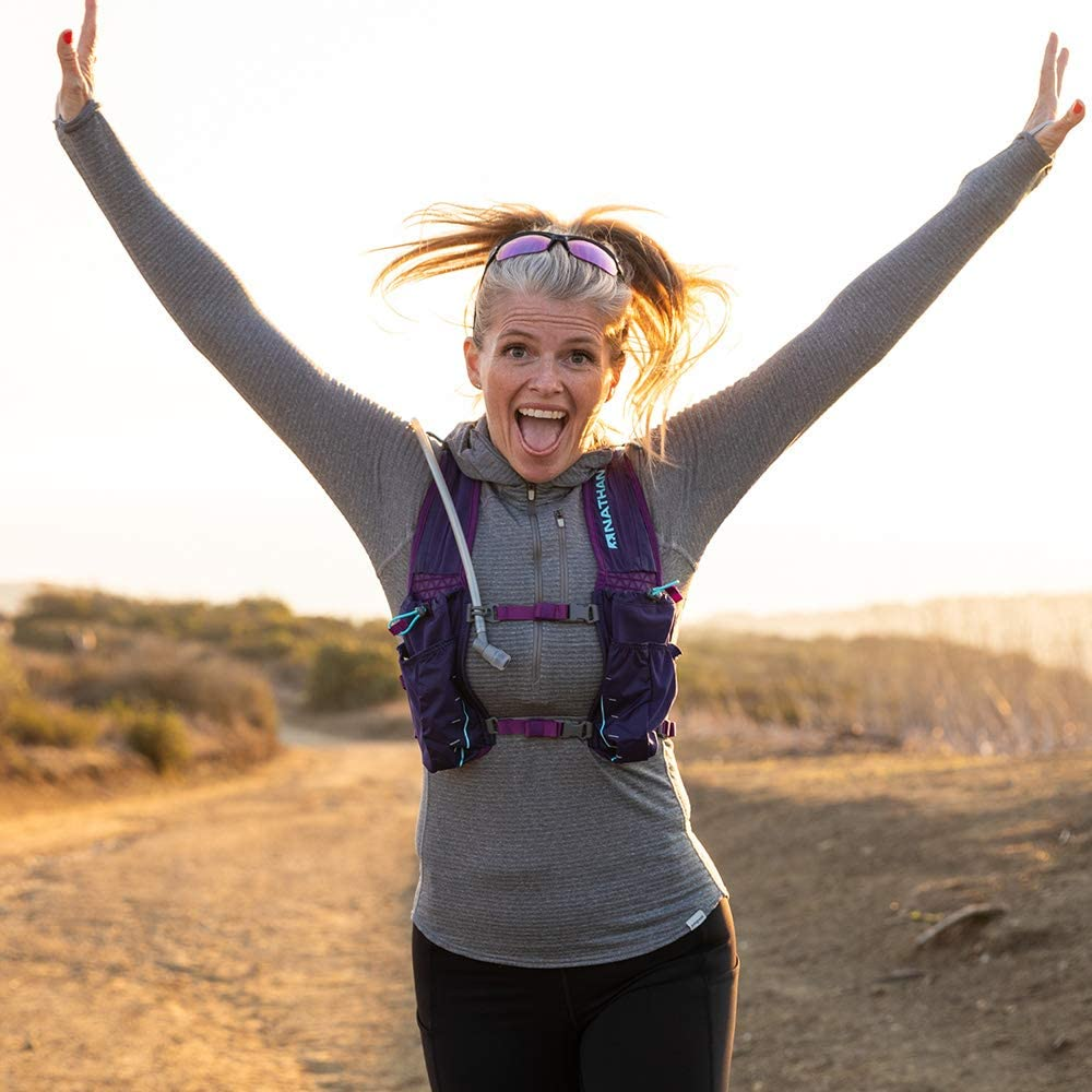 Nathan TrailMix Running Vest//Hydration Pack 2L Bladder Included Zipper Pocket 12L 2 liters 12 Liters for Men and Women