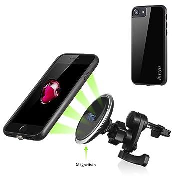 Magnético Antye Qi inalámbrico cargador de coche para iPhone ...