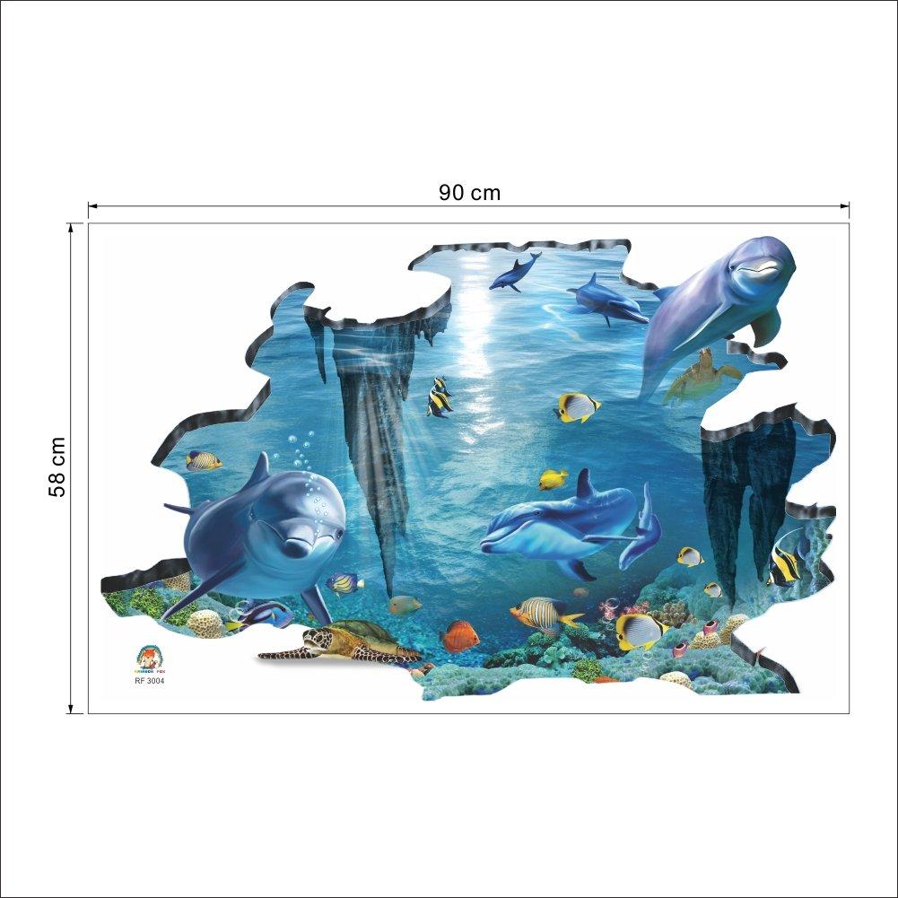 adatto per la camera dei bambini rimovibile Colorfulworld/® Adesivo da parete 3D resistente allacqua idea regalo