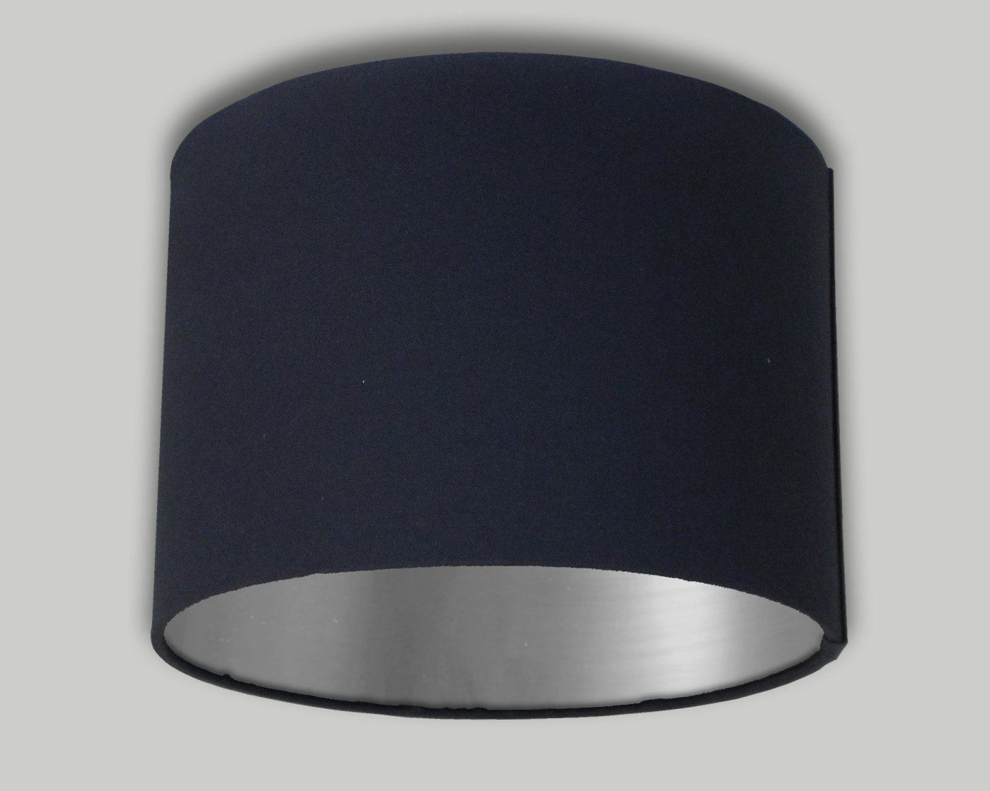 Navy Blue Drum Lampshade Brushed Silver Inner 20cm 25cm 30cm 35cm 40cm 50cm 60cm 70cm Lamp Shade Lightshade