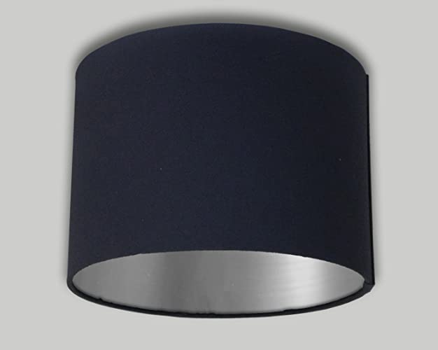 Black drum lampshade brushed silver inner 20cm 25cm 30cm 35cm 40cm black drum lampshade brushed silver inner 20cm 25cm 30cm 35cm 40cm 50cm 60cm 70cm lamp shade aloadofball Image collections