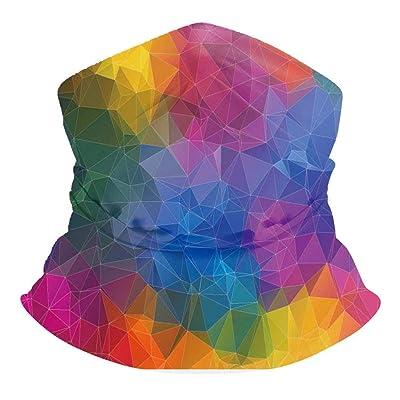 Bandana Mask for Women, 3D Print Seamless Warmer Windproof UV Protection Neck Gaiter Scarf Bandana Face Mask at Women's Clothing store