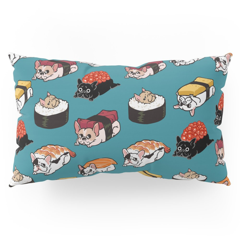 Society6 Sushi Frenchie Pillow Sham King (20'' x 36'') Set of 2