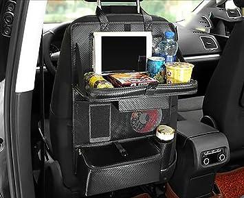Auto Klapptisch.Liyuu Autositz Rückentaschen Hängetasche Auto Klapptisch Mit
