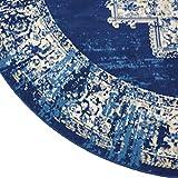 Nourison Grafix Navy/Blue Area Rug 8' x 8', 8'XROUND