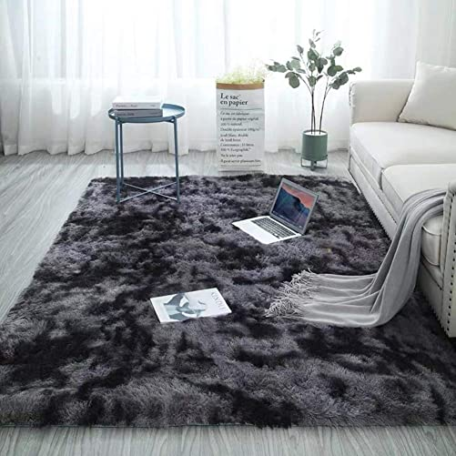 HM DX Shaggy Area Rug Fluffy Area Rug Carpet High Pile Non Slip Soft Cozy Shag Bedside Rugs Modern Carpet Living Room Bedroom