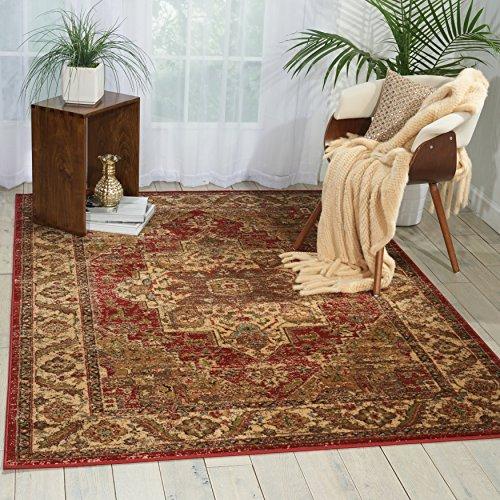 (Nourison Delano DEL05 Traditional Oriental Persian Brick (Red) Area Rug, 7'10
