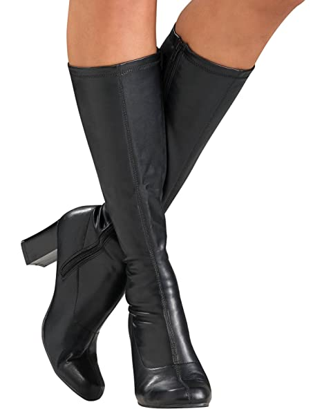 1d36bffbcef18 Secret Wishes Go-Go Boots, Black, Small