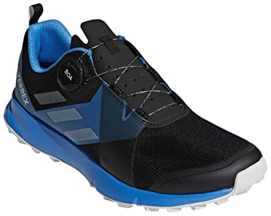 c8422a75f6 adidas outdoor Men's Terrex Two BOA Black/Grey One/Bright Blue 10.5 D US