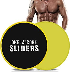 OKELA Exercise Core Sliders, 2 Pack Sport Dual Sided Gliding Discs Use on All Surfaces,Abdominal Exercise Equipment,Home Fitness Equipment, Perfect for Abdominal&Core Workouts