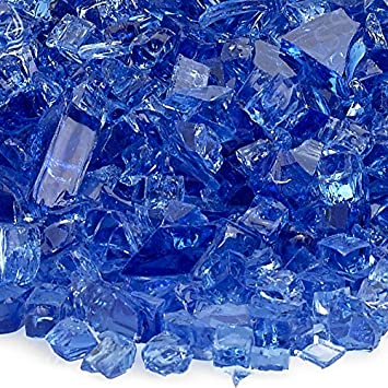 American Fireglass 10-Pound Fire Glass with Fireplace Glass and Fire Pit Glass 1//4-Inch Cobalt Blue