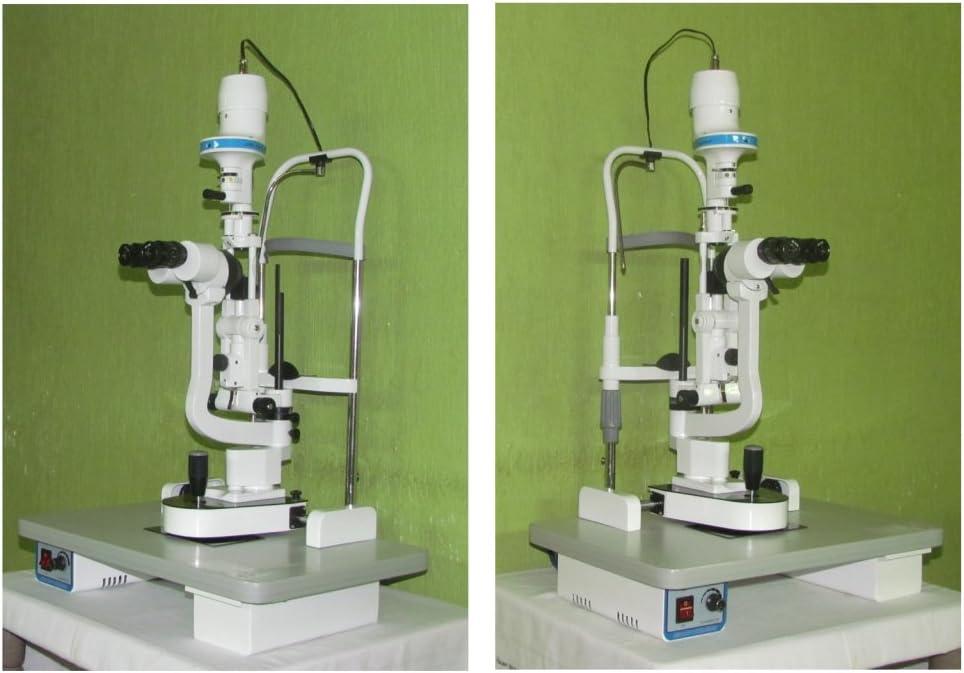 Lámpara de hendidura microscopio tipo Haag Streit de 2 pasos con todos los accesorios estándar