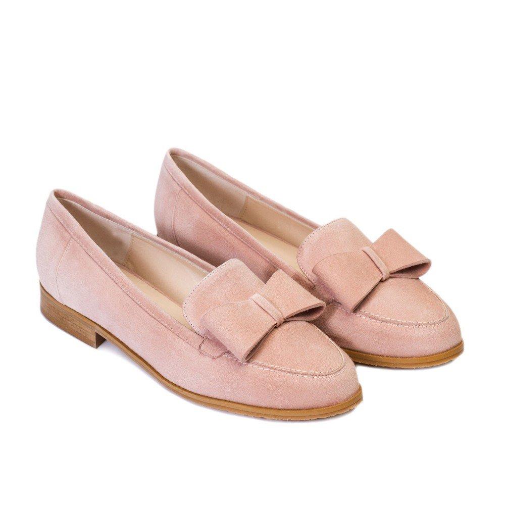 GENNIA Damaris Nude - Mocasines para Mujer de Piel Ante y con Mini Tacón de 1 cm: Amazon.es: Zapatos y complementos