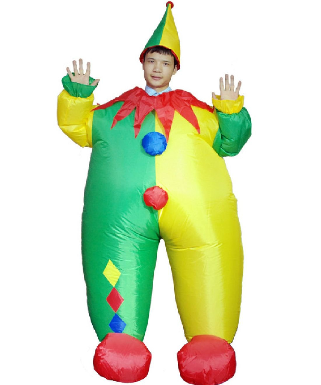 Carnival Party Suits Anime Cosplay Fat Man Inflatable Clown Costume