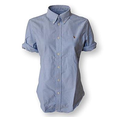 Ralph Lauren Womens Short Sleeve Oxford Button Down Shirt at ...