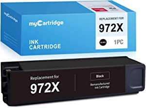 myCartridge Remanufactured Ink Cartridge Replacement for HP 972X 972 XL (1 Black) High Yield Fit HP PageWide Pro 477dn 477dw 577dw 577z 452dn 452dw 552dw Upgraded Chip