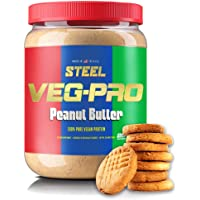 Steel Supplements Veg-PRO Vegetable Pea Protein Isolate Powder Supplement Natural Organic Vegan 1.5 Pounds (Peanut Butter)