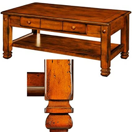Astounding Amazon Com Carved Coffee Table With Two Drawers And Shelf Spiritservingveterans Wood Chair Design Ideas Spiritservingveteransorg