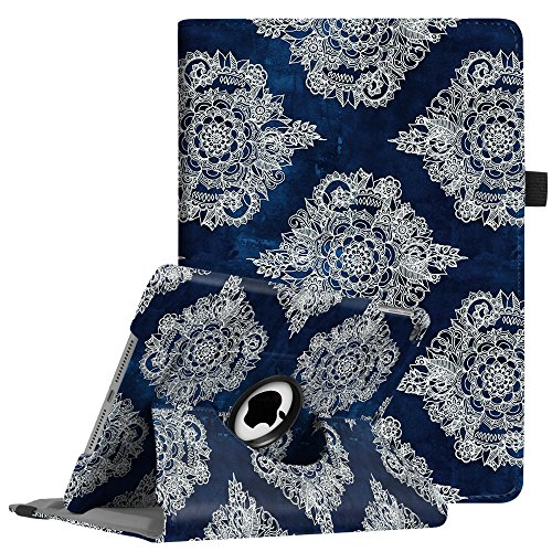 Fintie iPad 9.7 inch 2018 2017 / iPad Air Case - 360 Degree Rotating Stand Protective Cover with Auto Sleep Wake for Apple iPad 9.7 (6th Gen, 5th Gen) / iPad Air 2013 Model, Indigo Dreams