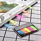 1260 Pieces Page Marker Tabs Pop-up Index Tabs Neon Flag Sticky Notes, 16 Sets 4 Sizes