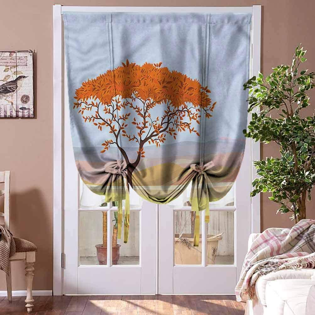 Houselookhome Curtain Panels Landscape Tie Up Window Valance Fall Season Nature Hills For Windows Doors Rod Pocket Panel 39 W X 63 L Home Kitchen