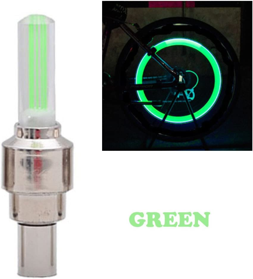 Waterproof Bicycle Wheel Tire Value Cap Light for Front /& Rear Wheel Zcuhen 2 PCS of Led Flash Tyre Wheel Valve Cap Light for Car Bike Bicycle Wheel Light Tire LED Bike Wheel Light