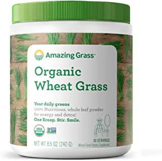 product image for Amazing Grass Wheat Grass Powder: 100% Whole-Leaf Wheat Grass Powder for Energy, Detox & Immunity Support, 30 Servings