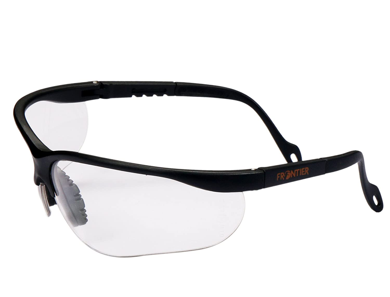 9c5cd37db1e Frontier (Midas Safety) Hurricane Clear Safety Glasses with Adjustable  Temple  Amazon.in  Amazon.in
