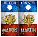 DaVinci Wrap Masters 'Long Live France!' Personalized Laminated Vinyl Corn Hole Board Decals.