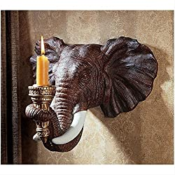 Design Toscano Elephant African Decor Candle Holde