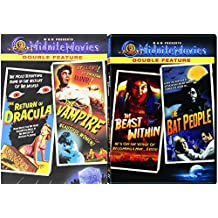 MGM Midnite Movies The Return of Dracula / The Vampire & The Beast Within / The Bat People 4 -Movie Bundle