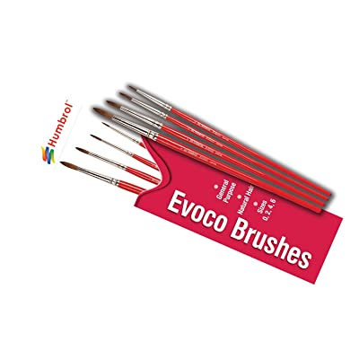 Humbrol AG4150 Evoco Paint Brushes Sizes 0,2,4,6: Toys & Games