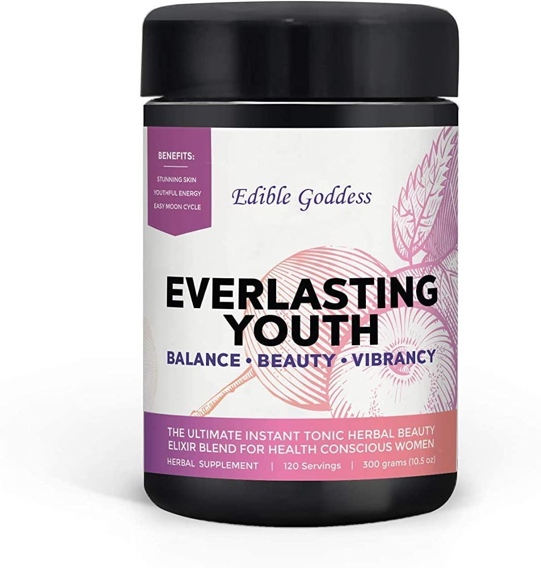 Everlasting Youth, Ultimate Instant Tonic Herbal Beauty Vitality Elixir Blend for Health Conscious Women, 60 servings, 300g 10.5oz
