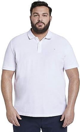 TOM TAILOR Men+ Plussize Kontrast Polo Camisa Hombre: Amazon.es: Ropa y accesorios