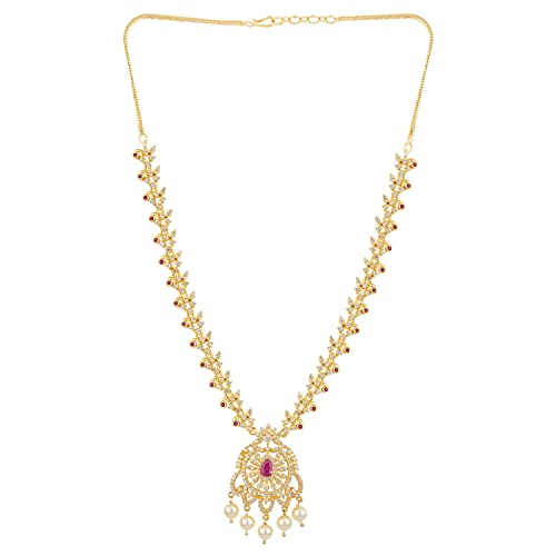 3964562903383 Buy Voylla CZ Brass Gold Plated Necklace Set Jewelry Gift for Her ...