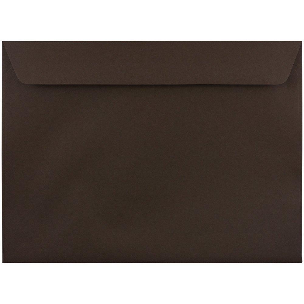 JAM PAPER 9 1/2 x 12 5/8 Premium Booklet Envelopes - Chocolate Brown Recycled - Bulk 250/Box by JAM Paper