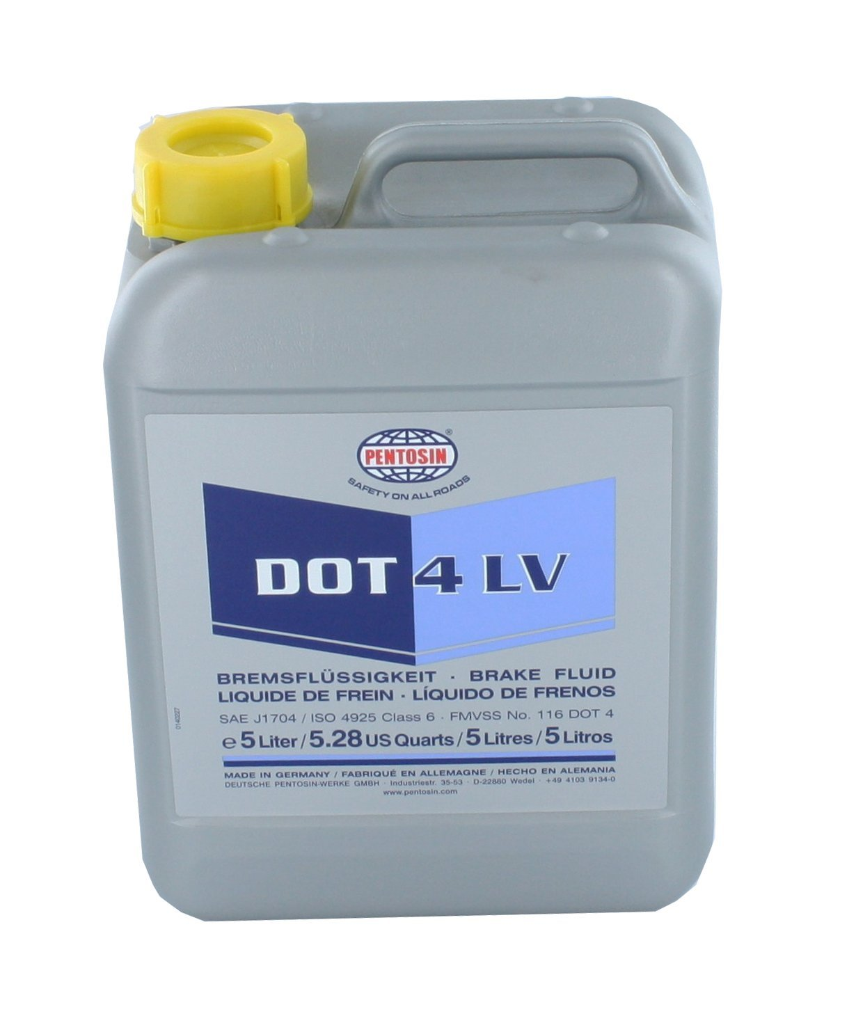 Pentosin 1224204-C Dot 4 LV Brake Fluid, 5 Liter (Case of 4) by CRP Automotive